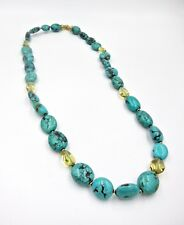 David Yurman Limited Edition 18k Turquoise and Lemon Citrine Necklace
