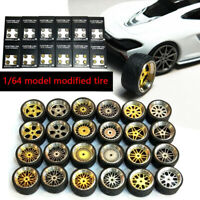 1/64 Scale Alloy Wheels - Custom Hot Wheels, Matchbox,Tomy, Rubber  Tires R9Z4