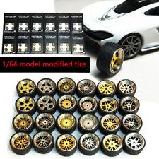 1/64 Scale Alloy Wheels - Custom Hot Wheels, Matchbox,Tomy, Rubber  Tires I3M5