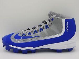 Nike Huarache 2K Filth Pro Mid MCS Baseball,807131-041,Gray/Blue,Men's 7.5,13
