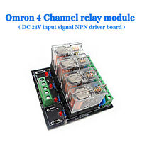 (US) Omron 4 Relay Four Panels Driver Board DC 24V Input Signal NPN