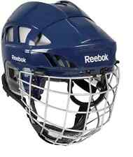 Reebok 7K ice hockey helmet and cage size large navy new face mask combo sz L