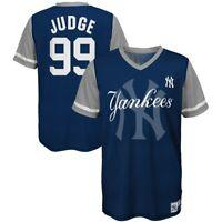 Youth New York Yankees Aaron Judge Majestic Play Hard Navy/Gray Jersey T-Shirt