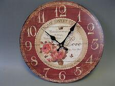 Talla Reloj De Pared 34cm Nostalgia reloj estilo antiguo ROSAS