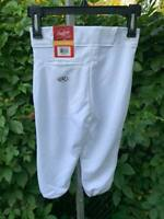 NWT Rawlings YBP350MR-W-88 Relaxed Fit Youth Baseball Pants Small White (G15)