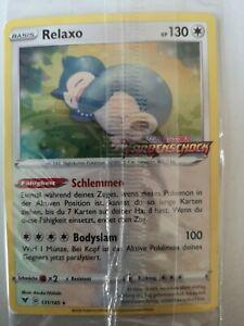 Pokemonkarte Relaxo Holo Promo 131/185 Farbenschock OVP Verpackt