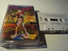 RAR CASSETTE. CYNDI LAUPER. A NIGHT TO REMEMBER. MADE IN SPAIN
