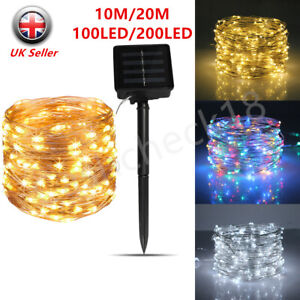 200LED Solar String Lights Waterproof Copper Wire Fairy Party Garden Outdoor