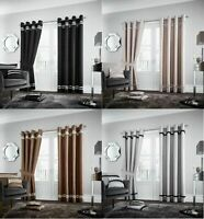 New Excellent Lavish Fully Lined Eyelet Ring Top Modern Diva Curtains Door panel
