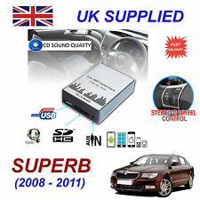 SKODA SUPERB MP3 USB SD CD INGRESSO AUX adattatore audio digitale CARICATORE CD