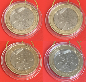 2002 Commonwealth Games North Ireland England Wales Scotland, £2 Two Pound Coin