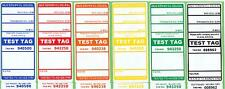 NSW Premium Electrical Test Tag Pack - 1500 (250 x 6 colours)
