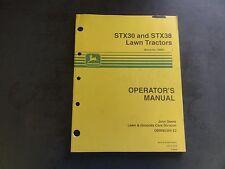 John Deere STX30 and STX38 Lawn Tractors Operator's Manual  OMM95304