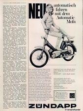 Zündapp-Mofa-1969-Reklame-Werbung-genuine Advert-La publicité-nl-Versandhandel