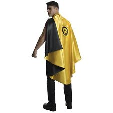 Deluxe Robin Adult Cape Yellow Superhero Cape One Size Fits Most