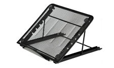 Metal Mesh Cooling Ventilated Adjustable Laptop Stand Tidier Desktop- Black