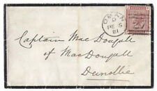 OBAN Duplex Postmark (273) Cover to Captain MacDougall, Dunollie