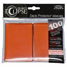PRO-Matte Eclipse Orange Standard Deck Protector Card sleeves 100ct Ultra Pro