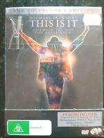 Michael Jackson's - This Is It [2 DVD Collectors Ed Box Set] Region 4, BRAND NEW
