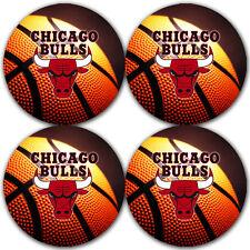 Chicago Bulls Basketball Rubber Round Coaster set (4 pack) / RNDRBRCSTR2034