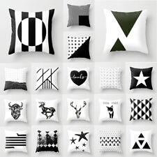 18'' Creative Black & White Nordic Pillow Case Throw Cushion Cover Home Decor