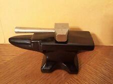 Empty Avon Hammer & Anvil Cologne Amber Glass Bottle Decanter Blacksmith Tool