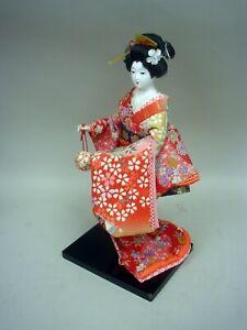 "Traditional 13"" Geisha Girl Kimono Doll - Made in Japan"