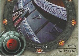 Stargate SG-1 Season 1 Trading Cards Dial Us Home Chase Card D2 Cetus Good-