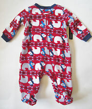 Faded Glory Red Polar Bear Winter Sleep and Play Size 0-3 months NWT Holiday