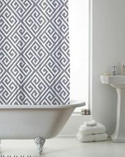 NEW Geo Design Shower Curtain With Decorative Rings 180cm x 180cm