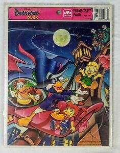 New Vintage Walt Disney Frame-Tray Jigsaw Golden Puzzle Darkwing Duck  80s