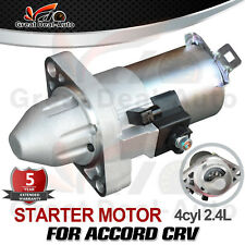 Starter Motor For Honda CRV CR-V RD RE RM Petrol 4CYL 2.4L PREMIUM OEM QUALITY