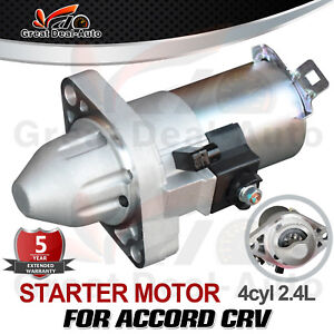 Starter Motor For Honda CRV CR-V RD RE RM Petrol 4CYL 2.4L PREMIUM TOP QUALITY