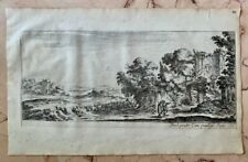 1665 Antique Print Landscape  Italy pastoral Israel Silvestre