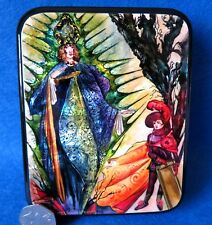 LACQUER SHELL Box RUSSIAN Andersen FAIRY TALE Kay Meets Snow Queen Harry Clarke