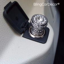 Crystal Bling Car Cigarette Lighter 12v, Rhinestone Car Charger Decor Accessory