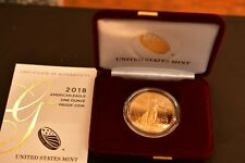 2018 AMERICAN EAGLE 1 OZ GOLD PROOF WITH  COA