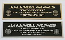 """Amanda Nunes """"Lionese"""" UFC nameplate for signed mma gloves photo or case"""