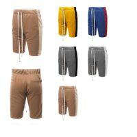 FashionOutfit Men's Casual Side Panel Drawstring Pockets Short Length Track Pant