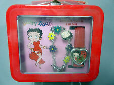 Brand New Betty Boop Lunch Box Watch & Bracelet Gift Set