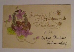 Nouvel An , Fer à Cheval, Pièces de Monnaie, 1903, Impression D'Or (40071)