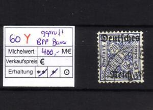 Rarität !!   Dienstmarke 60 Y , gepr. Infla (BPP Bauer)