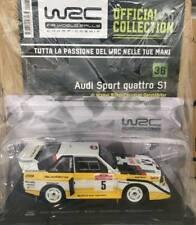 Modellino Auto Macchina Rally WRC n 36 Audi Sport Quattro S1 1985 Scala 1:24