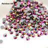 DMC Rainbow AB Hot Fix Rhinestone SS16-SS30(3.8-6.5mm) Crystal glass Iron On