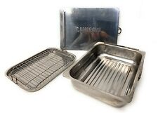 CAMERONS STOVETOP STAINLESS STEEL SMOKER WITH RACK, DRIP PAN