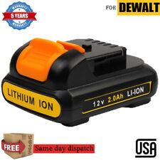 FOR DEWALT DCB120 12V 12 Volt MAX Lithium-Ion Battery Pack DCB127 DCB121 2.0Ah A