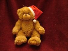Super Soft  Plush Christmas Teddy Bear with Santa Hat by Artistic Toys MINT