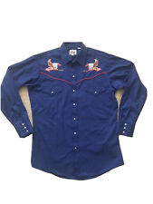 New listing Ely cattleman Western Button up W American Flag/eagles Patriotic America Med Usa