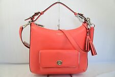 NWT Coach Legacy Leather Courteany Hobo Crossbody Handbag 22381 Bright Coral