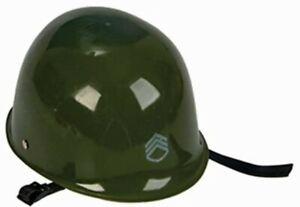 Army Helmet - Green - Plastic - Costume Accessory - Child Size